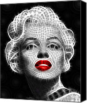 Monroe Canvas Prints - Marilyn Monroe Canvas Print by Pamela Johnson