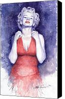 Stars Canvas Prints - Marilyn Monroe Canvas Print by Yuriy  Shevchuk