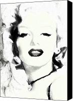Marilyn Munroe Canvas Prints - Marilyn Munroe Canvas Print by Shanina Conway