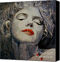 Marilyn Monroe  Canvas Prints - Marilyn no8 Canvas Print by Paul Lovering