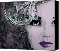 Marilyn Monroe  Canvas Prints - Marilyn no9 Canvas Print by Paul Lovering