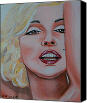 Marilyn Munroe Canvas Prints - Marilyn Canvas Print by Rene Waddell