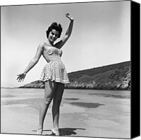One Piece Swimsuit Canvas Prints - Marilyn Ridge Canvas Print by Ken Harding