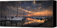 Monroe Canvas Prints - Marina at Fort Monroe Canvas Print by Williams-Cairns Photography LLC