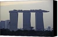 Skyline Canvas Prints - Marina Bay Sands as seen from the harbor cruise Canvas Print by Ashish Agarwal