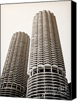 Unique Structure Canvas Prints - Marina City Chicago Canvas Print by Julie Palencia