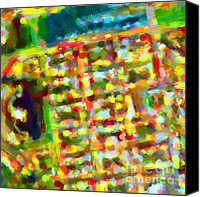 Abstract Map Canvas Prints - Marina District - San Francisco California USA - Abstract - Painterly Canvas Print by Wingsdomain Art and Photography