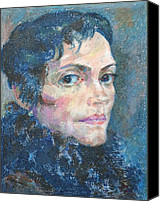 Portrait Canvas Prints - Marina Canvas Print by Leonid Petrushin