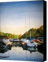 Cay Canvas Prints - Marina Morning Canvas Print by Shirley Braithwaite Hunt