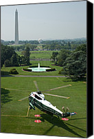 Barack Canvas Prints - Marine One Lifts Off From The South Canvas Print by Everett