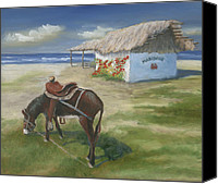 Burro Canvas Prints - Mariscos in Punta Mita Canvas Print by Jerry McElroy