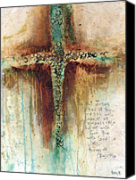 Christian Artwork Painting Canvas Prints - Mark 1027 Canvas Print by Michel  Keck