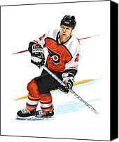 Skates Canvas Prints - Mark Howe Canvas Print by David E Wilkinson