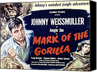 1950s Poster Art Canvas Prints - Mark Of The Gorilla, Johnny Canvas Print by Everett