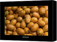 Mangoes Canvas Prints - Market Mangoes against black background Canvas Print by Zoe Ferrie