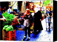 Abstract Photo Canvas Prints - Market Scenes of Beirut Canvas Print by Funkpix Photo  Hunter