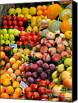 Apples Canvas Prints - Market Time II Canvas Print by Sue Melvin