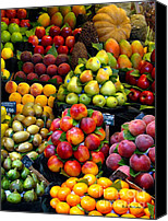 Mangoes Canvas Prints - Market Time Canvas Print by Sue Melvin