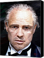 Portraits Canvas Prints - Marlon Brando Canvas Print by James Shepherd