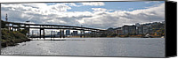 City Of Bridges Canvas Prints - Marquam Bridge Canvas Print by Brad Mull