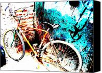 Morocco Canvas Prints - Marrakech Funky Bike  Canvas Print by Funkpix Photo  Hunter