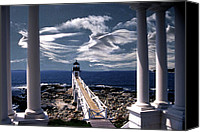 Lighthouses Canvas Prints - Marshall Point Lighthouse Maine Canvas Print by Skip Willits