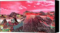 Other World Canvas Prints - Martian Landscape Canvas Print by Terril Heilman