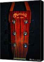 Guitar Headstock Canvas Prints - Martin and Co. Headstock Canvas Print by Bill Cannon