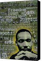 Justice Painting Canvas Prints - Martin Luther King Canvas Print by Iosua Tai Taeoalii