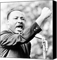 African Americans Photo Canvas Prints - Martin Luther King, Jr., Gesturing Canvas Print by Everett