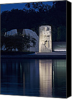 Washington Dc Canvas Prints - Martin Luther King Jr Memorial Overlooking the Tidal Basin - Washington DC Canvas Print by Brendan Reals