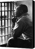 Demonstration Photo Canvas Prints - Martin Luther King, Jr, Sitting Canvas Print by Everett