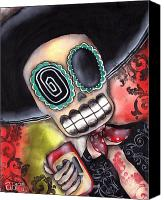 Halloween Painting Canvas Prints - Martin Mariachi Canvas Print by  Abril Andrade Griffith
