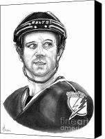 Hockey Canvas Prints - Martin St-Louis Canvas Print by Murphy Elliott