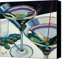 Red Wine Canvas Prints - Martini Canvas Print by Christopher Mize