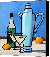 Featured Painting Canvas Prints - Martini Night Canvas Print by Toni Grote