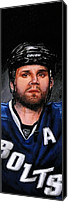Hockey Painting Canvas Prints - Marty St. Louis Canvas Print by Marlon Huynh