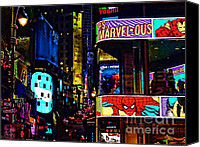 Times Square Digital Art Canvas Prints - Marvelous Canvas Print by Jeff Breiman