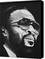 Art For Sale Painting Canvas Prints - Marvin Gaye II Canvas Print by Mikayla Henderson