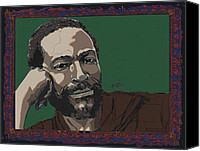 1970s Canvas Prints - Marvin Gaye  Canvas Print by Suzanne Gee