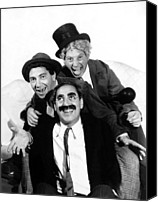 Publicity Shot Canvas Prints - Marx Brothers, The Chico, Groucho Canvas Print by Everett