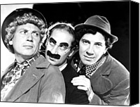 Publicity Shot Canvas Prints - Marx Brothers, The Harpo, Groucho Canvas Print by Everett