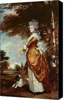 Aristocrat Canvas Prints - Mary Amelia First Marchioness of Salisbury Canvas Print by Sir Joshua Reynolds