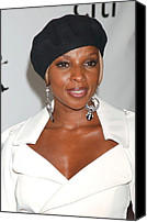 At Arrivals Canvas Prints - Mary J. Blige At Arrivals For The 4th Canvas Print by Everett