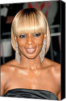 Metropolitan Museum Of Art Costume Institute Canvas Prints - Mary J. Blige At Departures For Annual Canvas Print by Everett