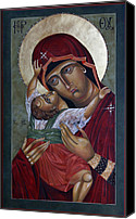 Egg Tempera Canvas Prints - Mary Kadiotissa Canvas Print by Mary jane Miller