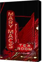 Photographers Atlanta Canvas Prints - Mary Macs Resturant Atlanta Canvas Print by Corky Willis Atlanta Photography