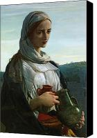 Half-length Canvas Prints - Mary Madgalen Canvas Print by JR Herbert