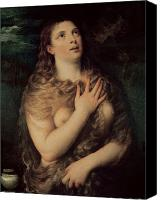 Magdalene Canvas Prints - Mary Magdalene Canvas Print by Titian