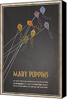 Kites Digital Art Canvas Prints - Mary Poppins Canvas Print by Megan Romo
